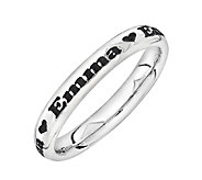 Simply Stacks Sterling Personalized Heart Accent Band Ring - J315236