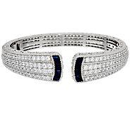 Judith Ripka 1.80 cttw Sapphire & Diamonique Cuff Bracelet - J321936