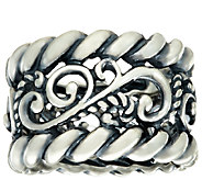 Carolyn Pollack Sterling Silver Signature & Rope Design Band Ring - J323236
