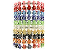 Trrtlz Set of 10 Stretch Animal Bracelets - J325936
