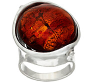 Kalos by Hagit Sterling Silver and Glass Sedona Ring - J327136