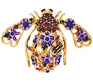 Joan Rivers Lilac Garden Party Bee Pin - J327736