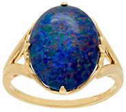 As Is Australian Opal Triplet Bold Ring, 14K Gold - J331136