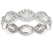 Diamonique Marquise Halo Eternity Band Ring, Sterling - J331336
