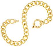 Dieci 6-3/4 Solid Curb Link Bracelet, 10K, 18.6g - J334736