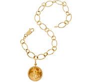 14K/22K Gold Liberty Coin 8 Charm Bracelet, 7.7g - J348836