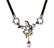 Barbara Bixby Sterling & 18K Leather & Gem Butterfly 17 Necklace - J349836