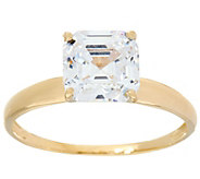 As Is Diamonique 2.00 cttw Solitaire Ring, 14K Yellow Gold - J351936