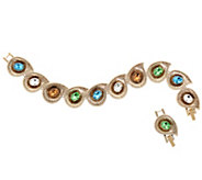 Grace Kelly Collection Swirl Simulated Gemstone Bracelet - J353136
