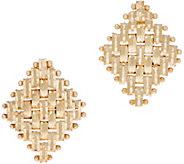 Imperial Gold Diamond Shape Polished Stud Earrings, 14K Gold - J353536
