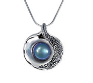 Hagit Sterling Cultured Pearl Shell Pendant with Chain - J378136