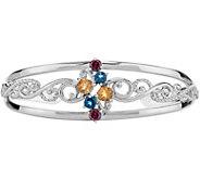 Carolyn Pollack Sterling Multi-Gemstone Cuff - J378336