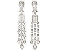 Judith Ripka Sterling Diamonique Dangle Earrings - J381436