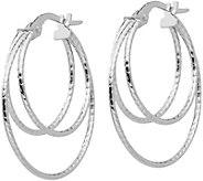 Italian Gold 1 Triple Hoop Earrings, 14K - J381736