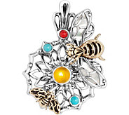 American West Sterling & Brass Gemstone Bumblebee Enhancer - J382636