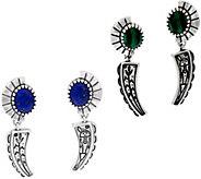 Fritz Casuse Sterling Silver Gemstone Harvest Moon Earrings - J59036