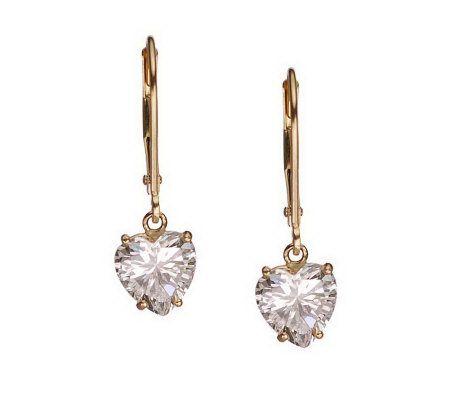 diamonique 3 00 ct tw lever back earrings 14k gold