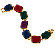 Kenneth Jay Lanes Regal Cabochon Link Bracelet - J271637