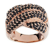 As Is Bronzo Italia Pave Crystal Cross-over Design Ring - J278637