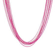 Susan Graver Liquid Multi-chain Colored Sparkle Necklace - J281037