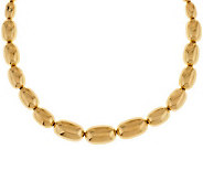 Oro Nuovo 18 Graduated Oval Bead Necklace 14K - J281137