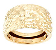EternaGold Domed Diamond Cut Band Ring 14K Gold - J283237