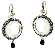 Barbara Bixby Sterling & 18K Crescent Moon Gemstone Earrings - J286337