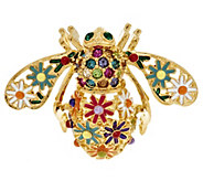 Joan Rivers Enamel Wildflower Bee Pin - J288637