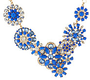 Susan Graver Asymmetrical Floral Statement Necklace - J290137