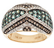 1.10 ct tw Alexandrite & 9/10 ct tw Diamond Domed Ring, 14K Gold - J292537