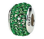Prerogatives Sterling Green Full Swarovski Crystal Bead - J299637