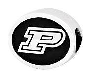 Sterling Silver Purdue University Bead - J300737