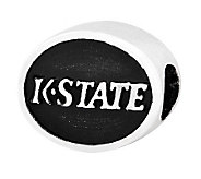 Sterling Silver Kansas State University Bead - J300837