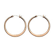 Stainless Steel Chocolate-plated 1-1/4 Hoop Earrings - J302237