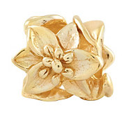 Prerogatives 14K Gold-Plated Sterling PlumeriaFloral Bead - J302737