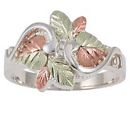 Black Hills Leaf Bouquet Ring, Sterling/12K Gold - J304037