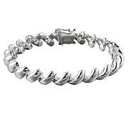UltraFine Silver 7-1/4 Polished San Marco Bracelet 17.30g - J305637