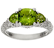 Judith Ripka Sterling Three Stone Gemstone Ring - J320137