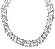 As Is Judith Ripka Sterling 118 Facet Diamonique Necklace - J321237
