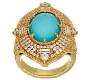 Judith Ripka Sterling & 14K Clad Doublet & Diamonique Ring - J323337