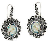 Sterling Silver Gemstone or Roman Glass Lace Earrings by Or Paz - J324137