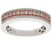Natural Pink & White Diamond Band Ring, 14K, 1/2 cttw, by Affinity - J324637
