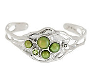 As Is Hagit Sterling Large Cultured Pearl & Gemstone Sculpted Cuff - J326437