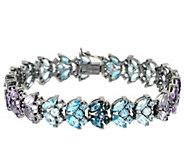 Marquise Multi-Gemstone Tonal 6-3/4 Tennis Bracelet 13.00 cttw - J326837