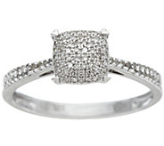 Diamond Pave Choice of Cut Sterling Ring, 1/5 cttw, by Affinity - J328437