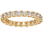 As Is Diamonique Round Eternity Band Ring, 14K Gold - J331437