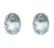 8x6mm Oval Precious Gemstone Stud Earrings, 14KGold - J337937