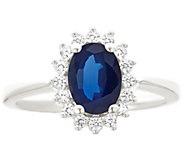 Premier 1.25cttw Oval Sapphire & Diamond Ring,14K - J338237