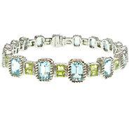 Judith Ripka Sterling 7-3/4 Multi-Gemstone Tennis Bracelet - J339537