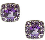 Judith Ripka Sterling 2.30cttw Gemstone Halo Stud Earrings - J340637